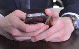 スマートフォン操作写真